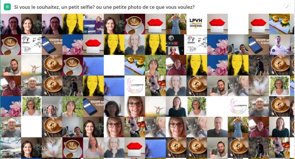 mur de selfies webinar réseaux sociaux